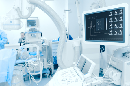 Modern technology in the diagnosis of heart disease.