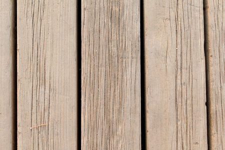 trampled: Wooden floor in the beach jetty. Stock Photo