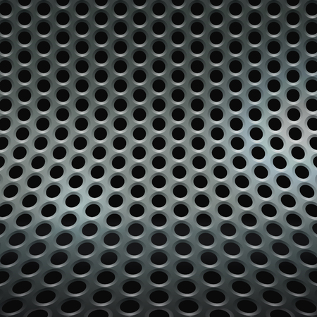 speaker grille pattern: Abstract perforated mesh background. Stock Photo