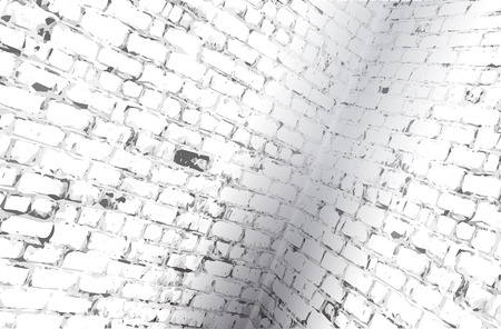 whitewash: Interior angle of a brick room. Vector illustration