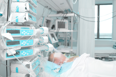 Modern equipment in intensive care unit