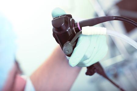 probe: Probe for visual examination of the internal organs. Stock Photo