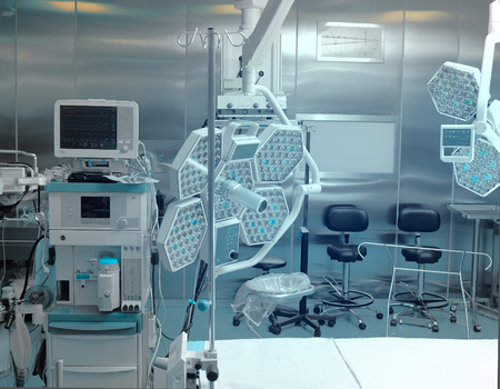 medical technical equipment: Modern equipment in hospital operating room.