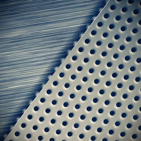 perforated: Background perforated metal with tech elements. Abstract design. Stock Photo