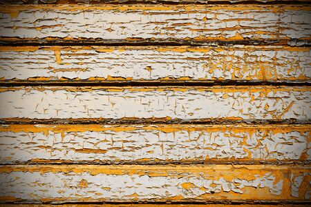 distressed: Old boards with flaky coat of paint. Stock Photo