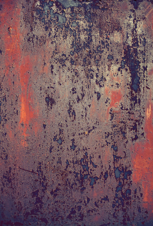 scrap iron: Corroded iron plate, industrial background.