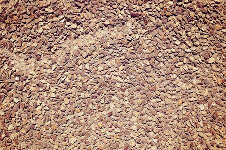empedrado: Adoquines allan� la pared, textura de fondo. Foto de archivo