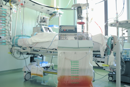 nursing unit: Medical hardware in hospital ward.