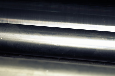 shafts: Shafts in the dust. Detail of the machine.