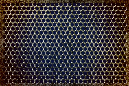corrode: Grunge rusty perforated background Illustration