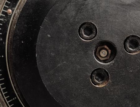 appliance: Flywheel of retro technology appliance.