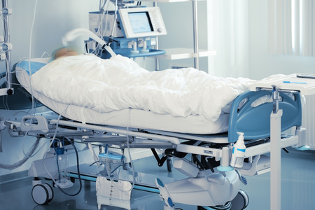 Monitoring of comatose patient in intensive care.