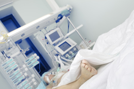 palliative: Patient in serious condition in intensive care unit.