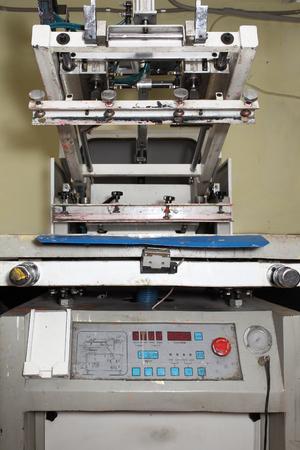 printing machine: Old printing machine for serigraphy.