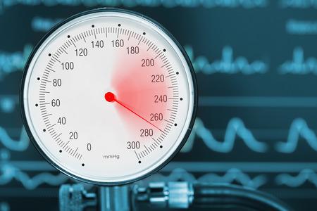 High blood pressure diagnostics medical concept.