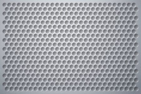 3D Volumetric plastic synthetical background wells or perforations resembling a mesh or metal structure