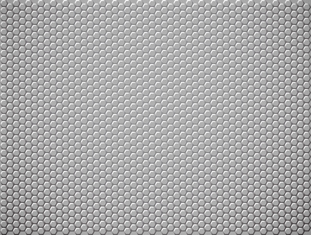 Geometric metal or plastic background with hexagons