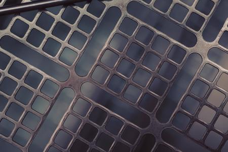 Construction geometric metallic macro industrial background