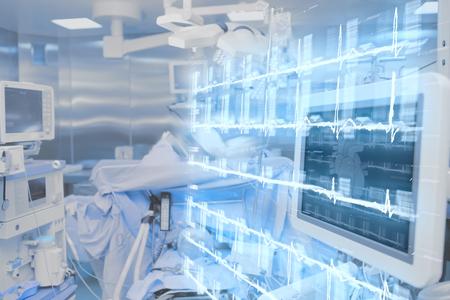 Modern technologies in hospital operating room.
