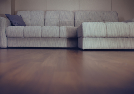 Living room with the couch.