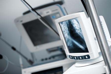 Modern computer in the hospital 版權商用圖片