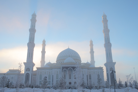 Mosque in the cold winter morning.