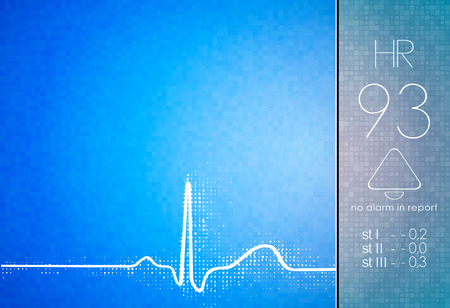 Cardiogram medical scientific research technological background Illustration
