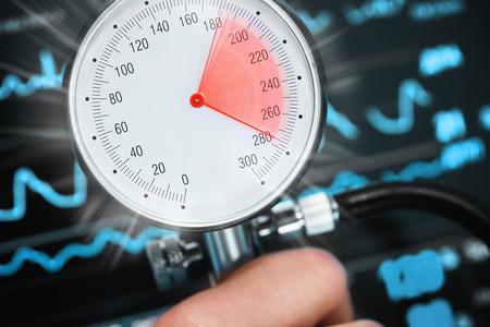 High blood pressure threatens health.