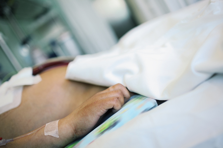 critical care: Patient in serious condition in the intensive therapy department.