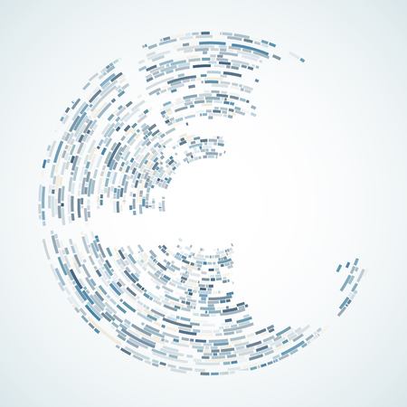 Blue spiral shape as background with space for text