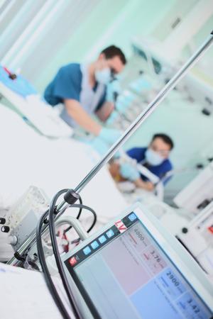 Working doctors in the ICU.