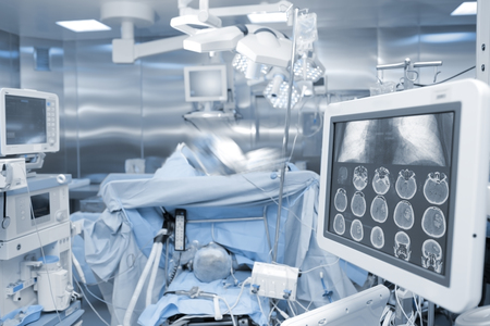New age technology of x-ray control during surgery.