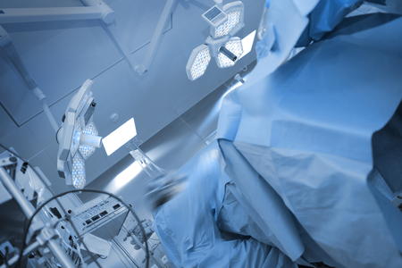 Surgical procedure in the operating theatre.