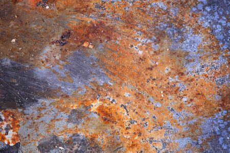 Metal sheet background with corroded texture.
