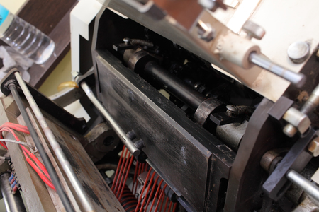 Industrial machine in the printing manufacture.