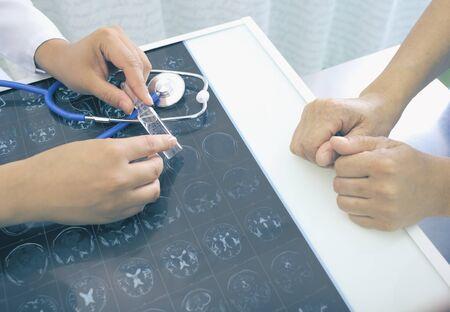 Practitioner prescribes new drug to elder patient.