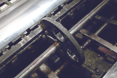 Part of an old printing machine.
