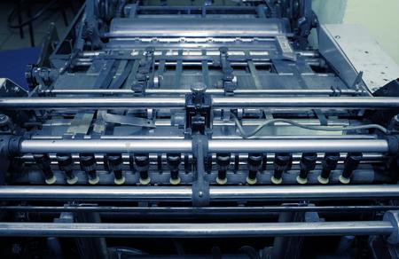 Vacuum source tray of industrial printing press.