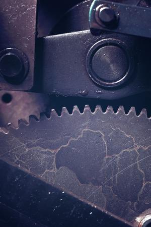 Fragment of the mysterious mechanism. 版權商用圖片