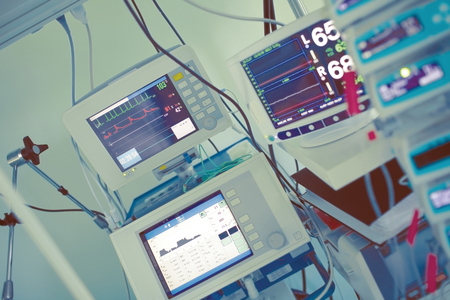 Digital equipment for heart monitoring in the intensive care unit.