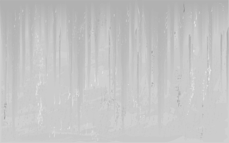 Concrete gray realistic background with streak of cement mortar. Vector background illustration
