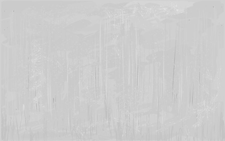 Weathered gray concrete wall with defects, stained in grunge style. Vector background
