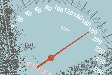 Off-road speedometer vector background