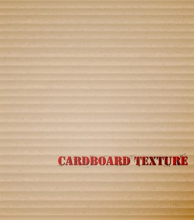 Brown cardboard background vector illustration