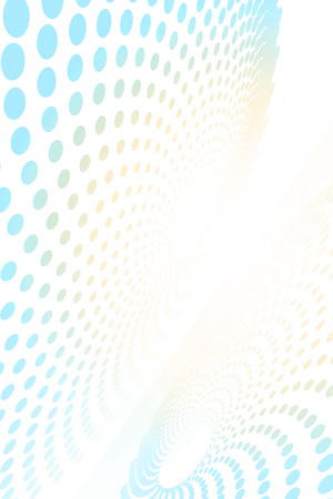 Abstract spiral-like shape moving on a curve plane background