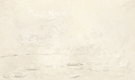Worn plastered  beje wall, illustration Фото со стока