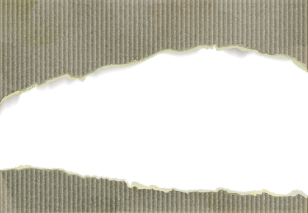 Weathered cardboard with torn edges, background with copyspace. Illustration