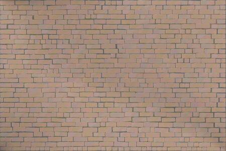 Wall masonry made of brown natural brick. Vector illustration background Vektoros illusztráció