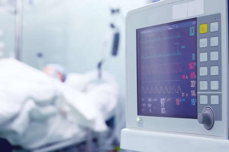 Cardiac activity monitoring of critical patient in the intensive care unit.