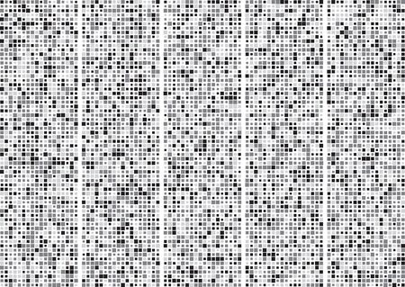 Technical digital conceptual background of canvas squares. Vector